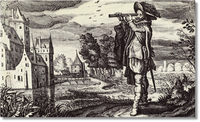 Man with Telescope for Blog #3, 4.10.15